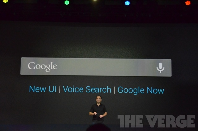 Улучшенная система поиска в Android 4.1 Jelly Bean. Фото: THEVERGE.COM