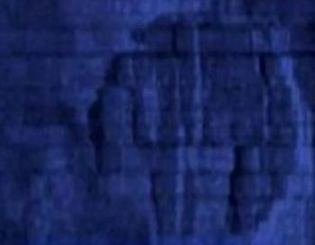 Скриншот с YouTube показывает изображение объекта на гидролокаторе. Фото: Великая Эпоха (The Epoch Times)