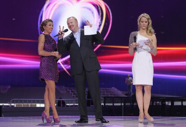 Фоторепортаж о предстоящем  выступлении Воробьёва в полуфинале «Евровидения – 2011». Фото: Sean Gallup/Getty Images
