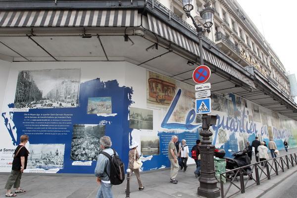 Фоторепортаж о презентации проекта реконструкции знаменитого универмага «La Samaritaine» во Франции. Фото: AFP PHOTO PIERRE VERDY