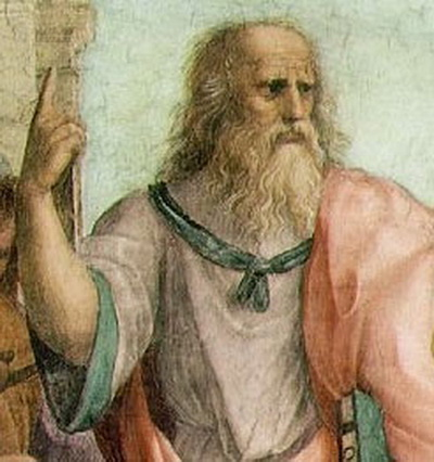 Платон на картине Рафаэля «Афинская школа». Фото: Wikimedia Commons