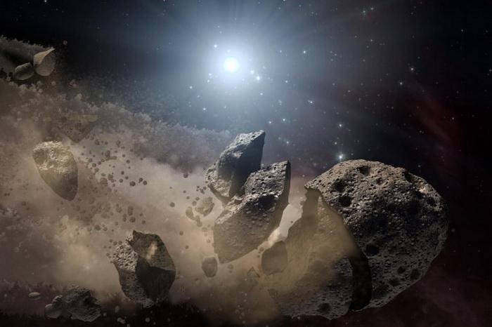 Астероид распадается на части (концепция художника). Фото: NASA