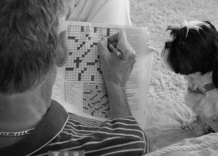 Умственная активность в пожилом возрасте приносит большую пользу. Даже незначительные нагрузки, такие как головоломки и кроссворды, очень эффективны, они способны омолодить мозг пожилых людей на 10 лет и даже замедлить деменцию (слабоумие). Фото: Matt MacGillivray/flickr.com