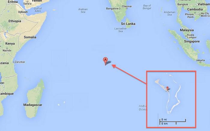 Местоположение Диего Гарсиа на карте. Фото: Google Maps