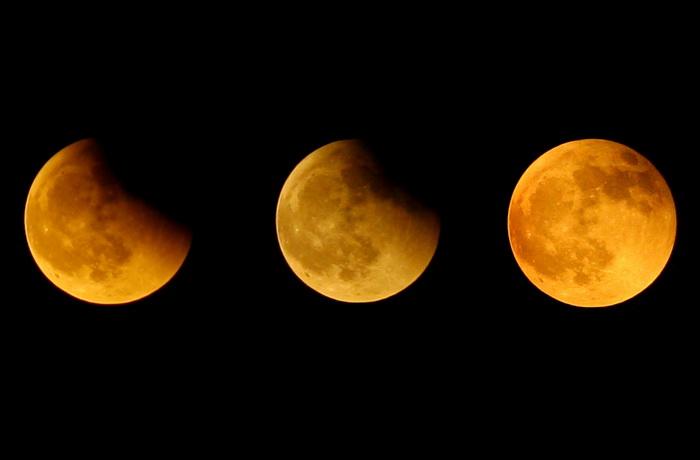Лунное затмение. Фото: China Photos/Getty Images