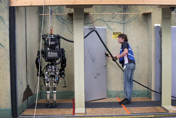 Фирма IHMC Robotics завоевала второе место. Фото: Joe Raedle/Getty Images