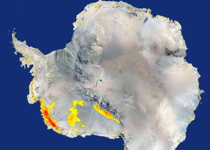 Антарктида. Фото: PHOTO/NASA/AFP/Getty Images