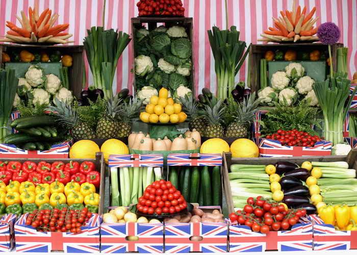 Великобритания. Выставке Саутпорт. Овощи и фрукты. Фото: Christopher Furlong/Getty Images