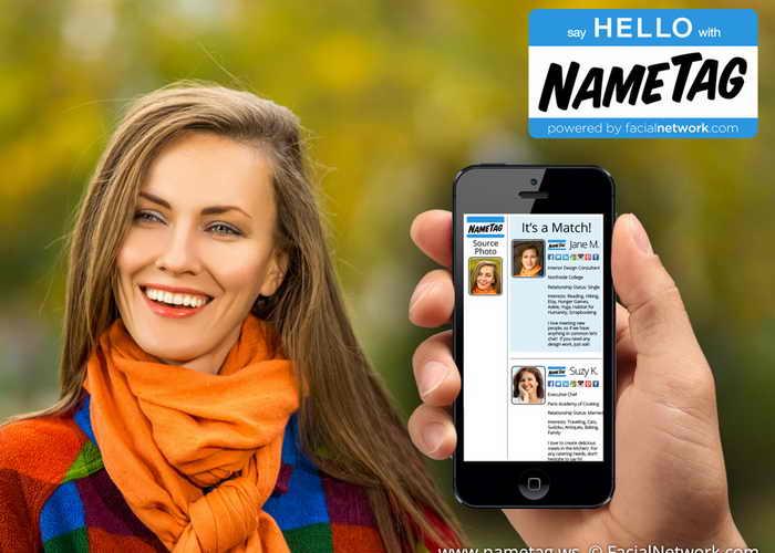 Новое приложение NameTag. Фото: nametag.ws