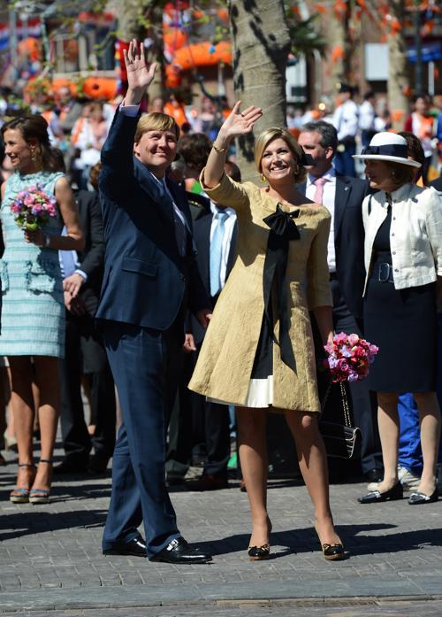 День королевы в Нидерландах. Принцессы Нидерландов Максима (Maxima) и принц Уильям-Александр  (Willem-Alexander). Фоторепортаж. Фото: Jasper Juinen/Getty Images