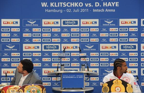 Владимир Кличко и Дэвид Хэй. Фоторепортаж с пресс-конференции. Фото: Stuart Franklin/Bongarts/Getty Images