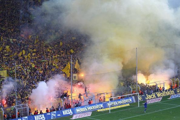 «Боруссия» празднует победу.  Фоторепортаж из Дортмунда. Фото: Lars Baron/Nadine Rupp/Christof Koepsel/Bongarts/Getty Images