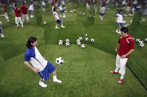 Лионель Месси (Lionel Messi): на тренировке. Фото с сайта  pr.adcontext.net