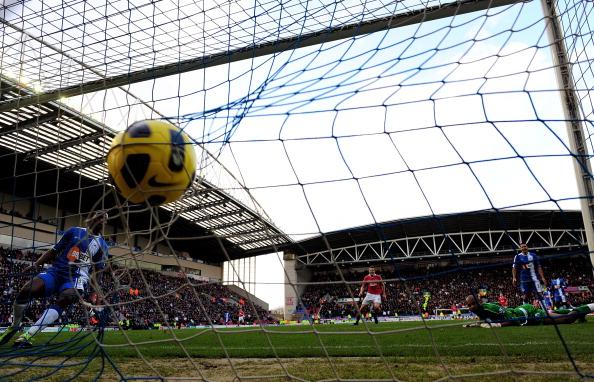 «Манчестер Юнайтед»  разгромил «Уиган Атлетик» со счетом 4:0. Фото: Mike Hewitt/Getty Images