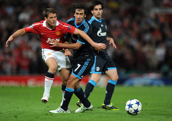 Фоторепортаж c матча «Манчестер Юнайтед»  -  «Шальке 04».  Игра продолжается. Фото: Lars Baron/Michael Regan/Getty Images