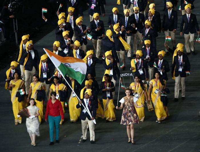 Команда сборной Индии на открытии Олимпийских игр в Лодоне.  Фото: Quinn Rooney/Getty Images