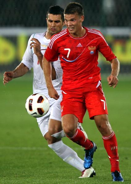 Футбольный матч Россия  -  Иран: 0:1. Аршавин и Адвокат надеются на лучшую игру с Арменией. Фото: KARIM SAHIB/AFP/Getty Images
