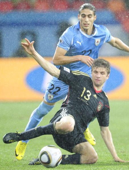 «Золотая бутса» в этом году досталась полузащитнику сборной Германии Томасу Мюллеру. Фото: JOHN MACDOUGALL/AFP/Getty Images