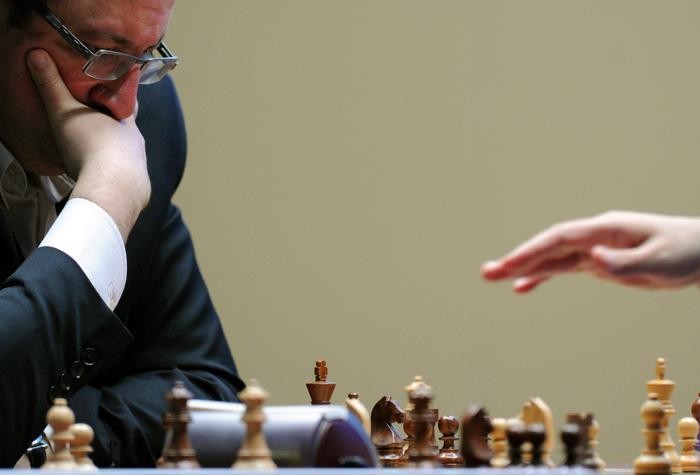 Вишванатан Ананд  в игре с Борисом Гельфандом отстоял звание чемпиона мира по шахматам. Фоторепортаж. Фото: KIRILL KUDRYAVTSEV/AFP/GettyImages