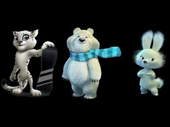 Выбраны  талисманы  Сочи-2014: Зайка, Леопард и Белый мишка. Фото с сайта talisman.sochi2014.com