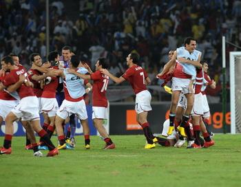 Египет стал семикратным обладателем Кубка Африки. Фото: ISSOUF SANOGO/AFP/Getty Images