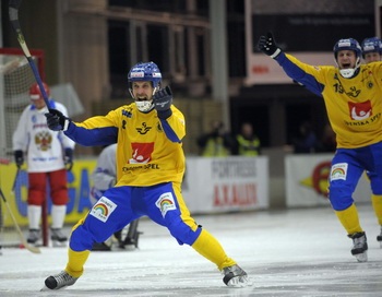 Россияне проиграли в финале чемпионата мира по хоккею с мячом. Фото: FREDRIK SANDBERG/AFP/Getty Images