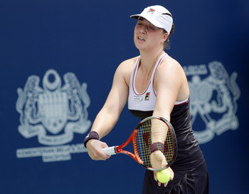 Алиса Клейбанова выиграла первый титул WTA в Куала-Лумпуре. Фото: Kiamaru AKHIR/AFP/Getty Images