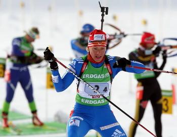 Ольга Зайцева капитан женской сборной России на Олимпийских играх в Ванкувере. Фото:Lars BARON/Bongarts/Getty Images