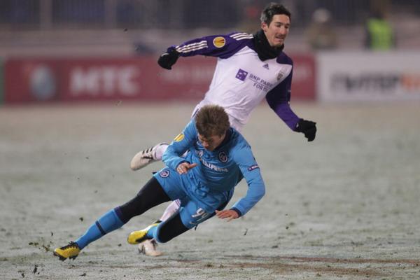 В матче «Зенит» - «Андерлехт», победу со счетом 3:1.одержали  питерцы. Фото  с сайта fc-zenit.ru