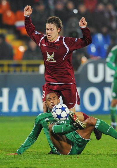 Матч «Рубин» - «Панатинаикос» сыгран вничью. Фото: NATALIA KOLESNIKOVA/AFP/Getty Images