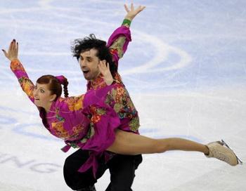 Яна Хохлова и Сергей Новицкий. Фото: Damien MEYER/AFP/Getty Images