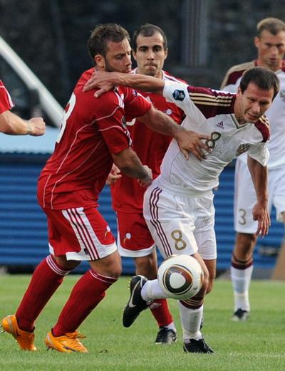 Матч  Андора – Россия счет 0:2. Фото: PASCAL PAVANI/AFP/Getty Images