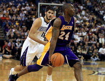 НБА: Коби Брайант - Сакраменто Кингз. Фото: EZRA SHAW/Sacramento Bee/MCT via Getty Images