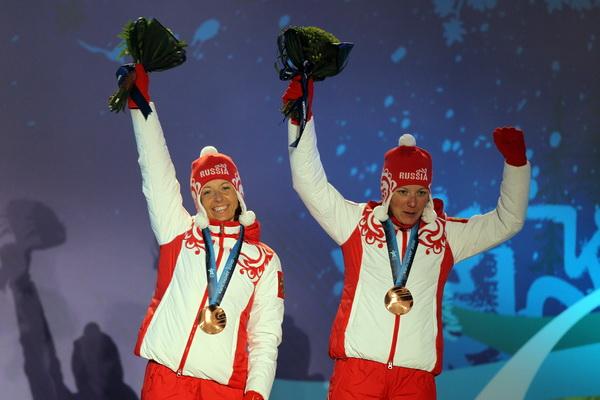 Наталья Коростелева и Ирина Хазова. Фото: Al BELLO/Getty Images