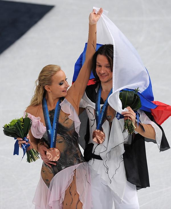 Оксана Домнина и Максим Шабалин. Фото: Vincenzo PINTO/AFP/Getty Images