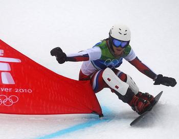 Екатерина Илюхина стала 5-й на этапе Кубка мира по сноуборду.Фото: Adrian DENNIS/AFP/Getty Images