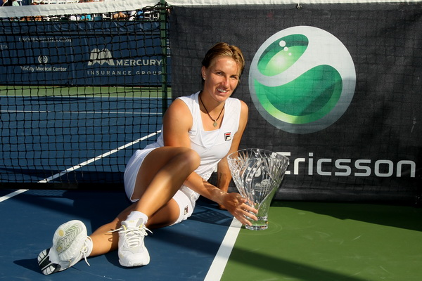 Светлана Кузнецова победила  турнир серии WTA в Сан-Диего. Фоторепортаж. Фото: Stephen DUNN/Getty Images