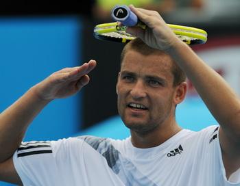 Михаил Южный успешно стартовал в турнире АТР в Нидерландах. Фото: GREG WOOD/AFP/Getty Images