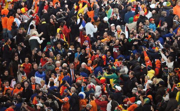 Сборная Испании – чемпион мира по футболу.  Фото: Franck FIFE, Roberto SCHMIDT, Gabriel BOUYS, Pedro UGARTE, Stephane de SAKUTIN, Thomas COEX/AFP/Getty Images