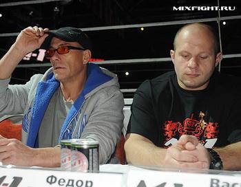 Федор Емельяненко и Жан-Клод Ван Дамм. Фото с сайта mixfight.ru