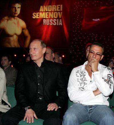 Владимир Путин и Ван Дамм в Питере. Фото: Vladimir RODIONOV/AFP/Getty Images