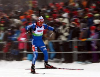 Евгений Устюгов занял второе место в масс-старте. Фото: Lars Baron/Bongarts/Getty Images