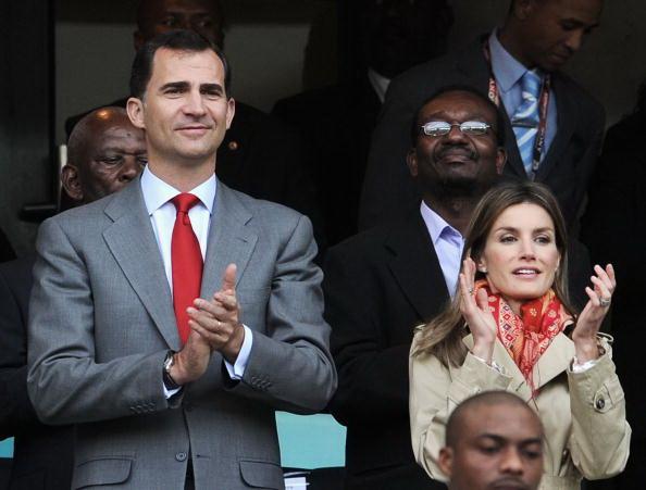 Принц Испании Фелипе (L) и принцесса Летиция. Фото: Jasper JUINEN/Getty Images