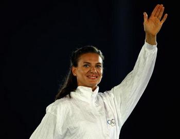 Елена Исинбаева на Юношеских Олимпийских играх в Сингапуре. Фото: Mark DADSWELL/Getty Images