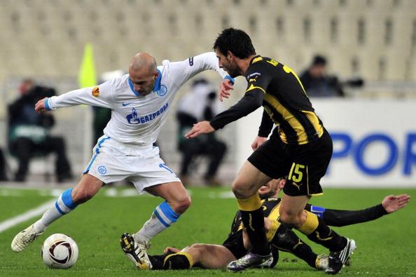 АЕК проиграл «Зениту»  со счетом 3:0. Фоторепортаж. Фото: ARIS MESSINIS/AFP/Getty Images
