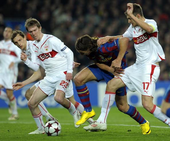 «Барселона» (Испания) – «Штутгарт» (Германия). Фото: Jasper JUINEN, Christof KOEPSEL/Getty Images