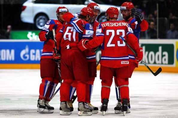 Сборная России разгромили Финнов. Фото: Lars BARON/Bongarts/Getty Images