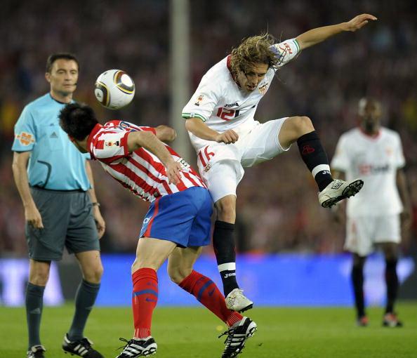 Мадридский «Атлетико» – «Севилья». Фото: Lluis GENE, Josep LAGO, Manuel Queimadelos ALONSO/AFP/Getty Images