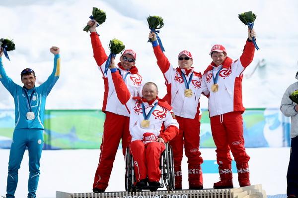Сергей Шилов, Кирилл Михайлов, Николай Полухин и Андрей Токарев. Фото: Ezra SHAW/Getty Images