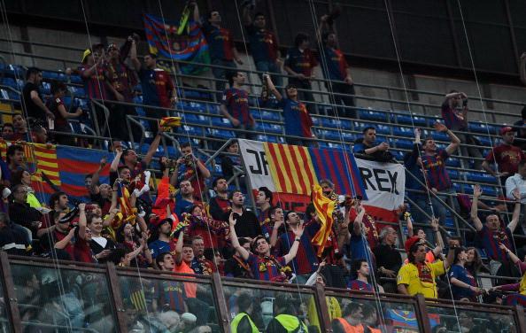 «Интер» - «Барселона». Фото: Filippo MONTEFORTE, Alberto PIZZOLI, Giuseppe CACACE, Andreas SOLARO, Claudio VILLA, Julian FINNEY /AFP/Getty Images